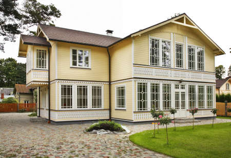 Modern house in Jurmala. Latvia Editorial