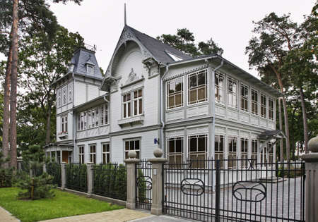 Old house in Jurmala. Latvia