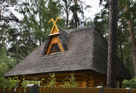 Fragment of thatch in Jurmala. Latvia