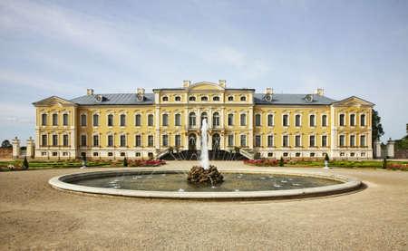 Rundale Palace near Pilsrundale. Latvia Editorial