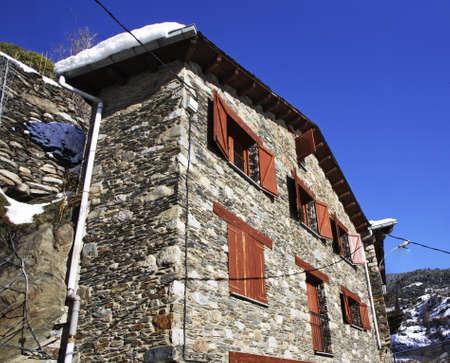 View of Les Bons village near Encamp, Andorra Stock Photo