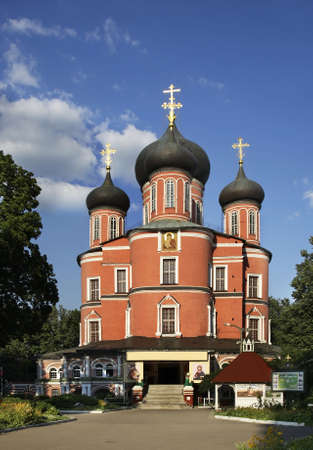 Great Cathedral of Don Icon of Mother of God at Donskoy Monastery in Moscow. Russia