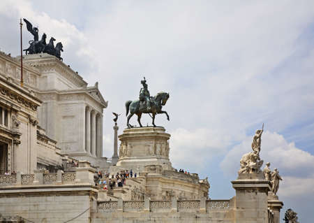 National Monument to Victor Emmanuel II (Vittorianoin) in Rome. Italy Editorial