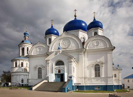Cathedral of Bogolyubsk icon of Mother of God in Bogolyubskii Monastery. Bogolyubovo. Vladimir oblast. Russia