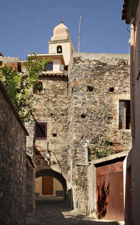 View of Orosei. Province of Nuoro. Sardinia island. Italy Banque d'images