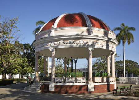 Pavilion in Jose Marti park. Cienfuegos. Cuba Stock Photo