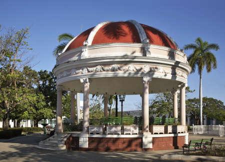 Pavilion in Jose Marti park. Cienfuegos. Cuba Stock Photo - 96978797