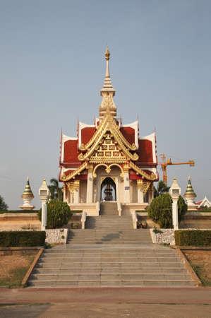 Udon Thani city pillar shrine - Sao Lak Muang at Thung Sri Muang Park. Thailand Stock Photo
