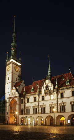 Townhouse at Upper Square (Horni namesti) in Olomouc. Moravia. Czech Republic
