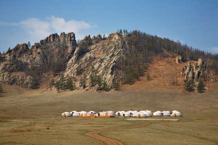 Gorkhi-Terelj-Nationalpark. Mongolei Standard-Bild - 96987372