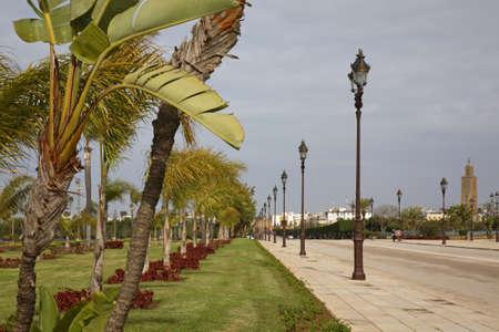 Avenue Bab Soufara in Rabat. Morocco