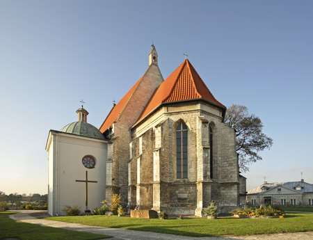 Church of Sts. Peter and Paul in Stopnica. Poland Stock fotó