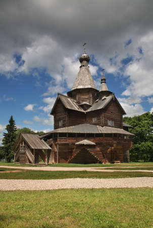 Church of Nativity of Virgin Mary in Vitoslavlitsy village near Novgorod Great. Russia