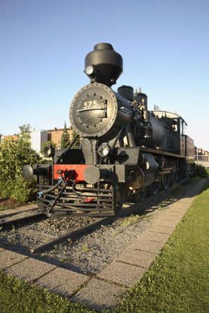 Locomotive in Tampere. Finland Editorial