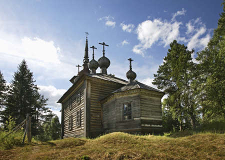 Church of St. Alexander Svirsky at Maselga village in Kargopol district of Arkhangelsk Oblast, Russia Stock Photo