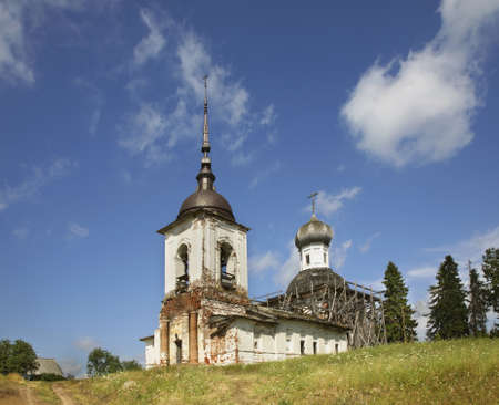 Church of Sts. Peter and Paul at Morshchikhinskaya village in Kargopolsky District of Arkhangelsk Oblast, Russia Stock fotó
