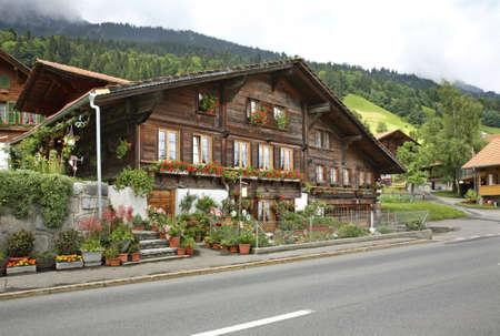 View of Ringoldingen village. Canton of Bern. Switzerland