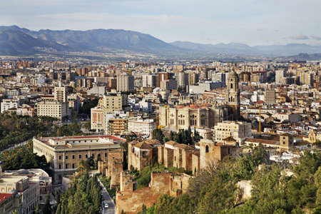 Panoramic view of Malaga. Spain