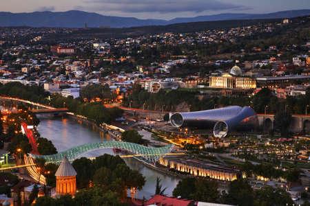 Panoramic view of Tbilisi. Georgia