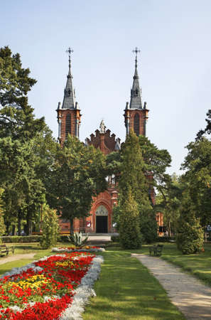 Church of Sts. Peter and Paul in Ciechocinek. Poland