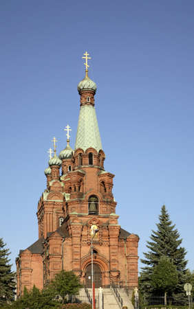 Church of St. Nicholas and Alexander Nevsky in Tampere. Finland Stock Photo