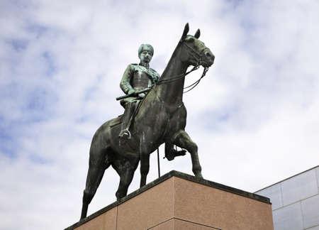 Mannerheim statue in Helsinki. Finland