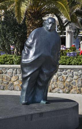 Sculpture in park of St. Jacob in Opatija. Croatia