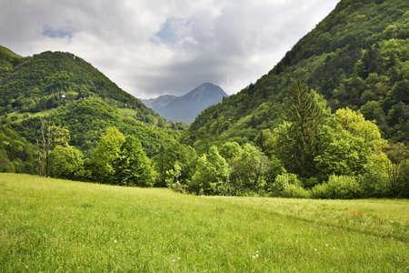 Landscape near Tolmin. Slovenia