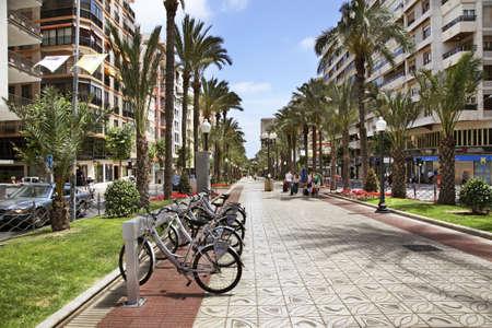 Avenida Federico Soto in Alicante. Spain Editorial