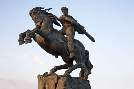 Statue of David of Sassoun in Yerevan. Armenia Banco de Imagens