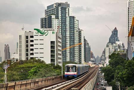 Bangkok Mass Transit System - BTS (Skytrain) in Bangkok. Kingdom of Thailand