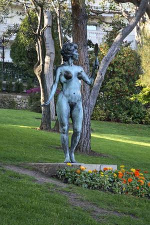 Sculpture in Gardens of St. Martin. Monaco-Ville. Principality of Monaco Editoriali