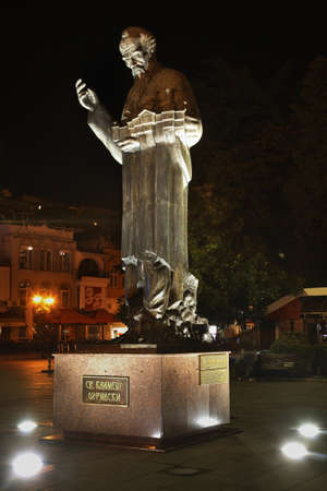 Monument to st. Clement in Ohrid. Macedonia Editorial