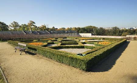 Garden of Palace of Krakow Bishops in Kielce. Poland