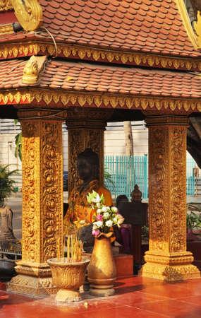 Sanctuary near Preah Ang Chek Preah Ang Chom temple in Siem Reap (Siemreap). Cambodia