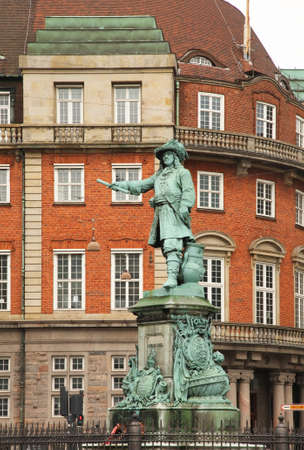 Niels Juel statue in Copenhagen. Denmark