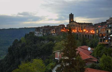 View of Nemi. Lazio region. Italy