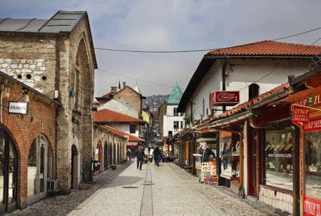 Bascarsija – old bazaar in Sarajevo. Bosnia and Herzegovina Editorial