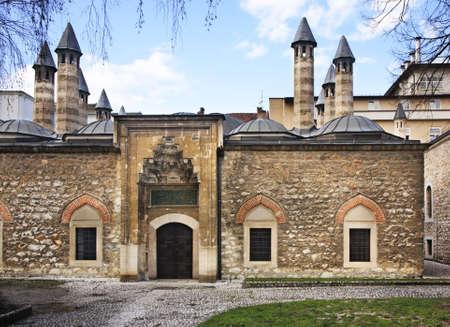Gazi Husrev-beg madrasah in Sarajevo. Bosnia and Herzegovina Editorial