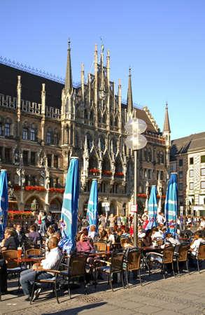 Marienplatz square in Munich. Germany