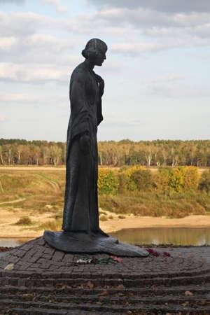 Monument to Marina Tsvetaeva in Tarusa. Russia
