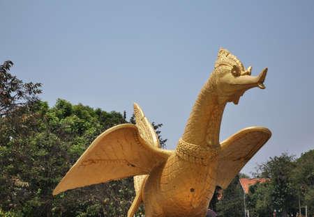 Goose (hamsa) statue in Phnom Penh. Cambodia