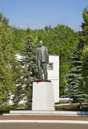 Monument to Lenin in Tarusa. Russia Editorial