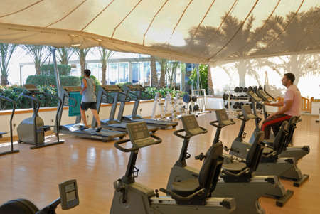 Gym of Elisir spa at Domina Coral Bay hotel. Sharm el Sheikh. Egypt