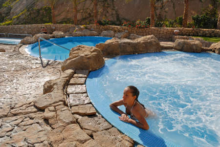 Swimming pool of Elisir spa at Domina Coral Bay hotel. Sharm el Sheikh. Egypt