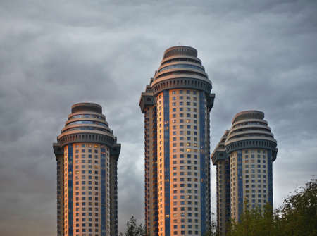 Residential complex Sparrow Hills (Vorobyovy Gory) in Moscow. Russia