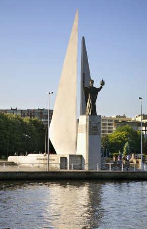 Monument to St. Nicholas Wonderworker in Kaliningrad. Russia