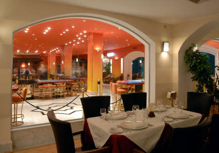 Restaurant at casino of Domina Coral Bay hotel. Sharm el Sheikh. Egypt