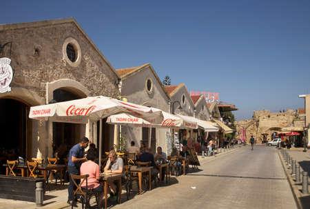 Liman Yolu street in Famagusta. Cyprus Редакционное