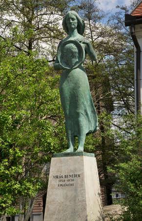 Monument to Virag Benedek in Budapest. Hungary